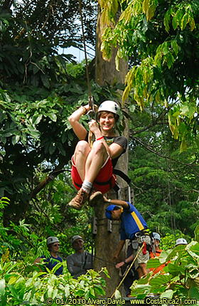 Canopy Tour at Tropical Rainforest of Costa Rica